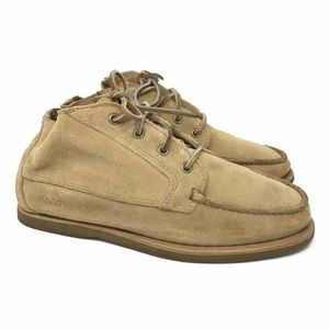 Timberland Desert Boots Beige Moc Toe Low Top 9.5